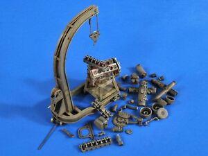 Verlinden 1/35 Panzerwerk Workshop Engine Hoist with Tiger I Tank Engine 2686