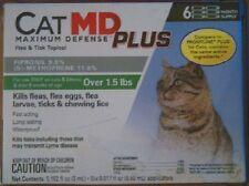 CAT MD MAXIMUM DEFENSE PLUS FIPRONIL FLEA & TICK TOPICAL FOR CATS 1.5 LB 6 CT