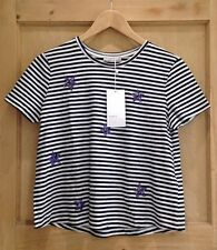 Zara Semi Fitted Casual Striped Tops & Shirts for Women