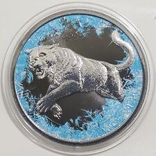 2016 $5 DEEP FROZEN COUGAR Ruthenium 1 Oz Silver Coin.   ON HANDS.