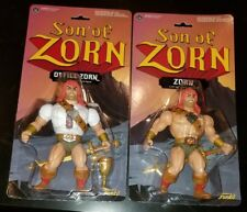 """2 LOT - SON OF ZORN 6"""" WARRIOR & OFFICE TOY ACTION FIGURE 2016 FUNKO NEW"""