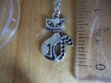 cat necklace silver coloured chain, in a box  [ 1182 ]