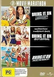 BRING IT ON Again + All or Nothing + In It To Win It DVD (3 Movies) FREE POST