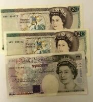 ENGLISH TWENTY £20 BANK NOTE CHOICE OF NOTE AND CASHIER