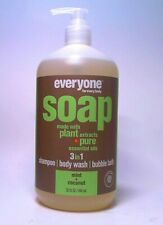 EVERYONE SOAP MINT COCONUT PLANT EXTRACTS PURE ESSENTIAL OILS SHAMPOO BODY WASH