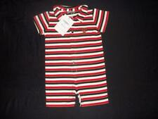 NWT Giggles Strasburg Baby Boy Striped Romper Shorts Outfit 18 Month PIMA COTTON