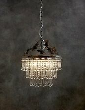 M&S 3 Light Emily Chandelier Teardrop-Shaped Glass Beautiful Chandelier Piece