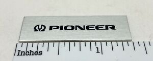 """Pioneer Turntable Badge Logo For Dust Cover Metal Custom Made 1-3/8"""" X 7/16"""""""