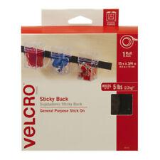 """VELCRO Brand STICKY BACK Tape Roll, 3/4"""" x 15', Black"""