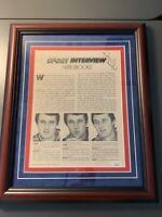 Herb Brooks Autographed Magazine Photo JSA COA 1980 USA Hockey Miracle On Ice