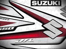 Suzuki DR650 decals 2011 Red Grey (black background)