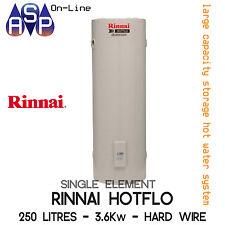 RINNAI HOTFLO ELECTRIC STORAGE HWS - 250L - 3.6Kw SINGLE ELEMENT (HARDWIRE)