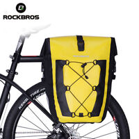 ROCKBROS Cycling Bicycle Travel Rear Seat Carrier Waterproof Pannier Bag Yellow