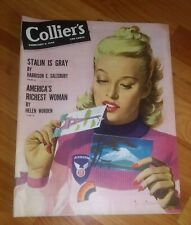 Collier's Magazine Feb 9, 1946 post WWII Issue *Stalin is Gray, Richest Woman*