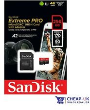 NEW SanDisk Extreme PRO 256GB Micro SD CARD SDXC MicroSD TF Class 10 170MB/s