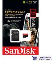 SanDisk 256GB Micro SD SDXC Clase 10 TF MicroSD 256G 256 GB Extreme PRO 170MB/s