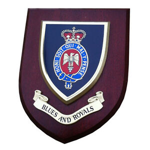 Blues and Royals Military Shield Wall Plaque