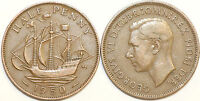 1937 to 1952 George VI Bronze Halfpenny Your Choice of Date / Year Multibuy
