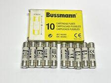 10 Pack Eaton Cooper Bussmann C10G2 10.3 x 38 mm Cartridge Fuse gG 2A 500VAC