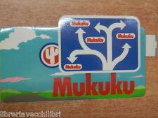 Vecchio adesivo sticker della MUKUKU negozio abbigliamento jeans