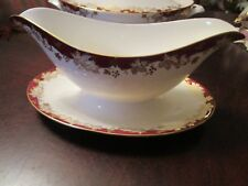 Royal Doulton Withrop Pattern Gravy Bowl With Attached Under Tray H 4969