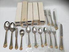 Reed & Barton Golden Chardonnay Stainless Service for 12 Place Settings 64 Pcs