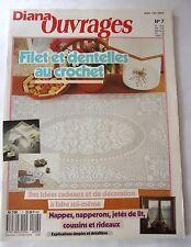 catalogue  DIANA OUVRAGES N° 7-   FILET ET DENTELLE AU CROCHET