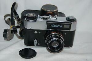 FED 5B Vintage 1980's Soviet Rangefinder Camera & Case. Service. 603614. UK Sale