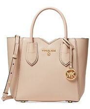 Authentic Michael Kors Mae Small Messenger Handbag in Soft Pink/Gold
