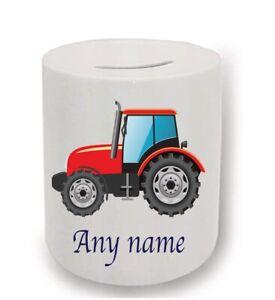 Tractor personalised money box
