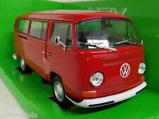 Nex models 1/24 Scale 24042W Volkswagen T2 Bay window 1972 red Diecast model car