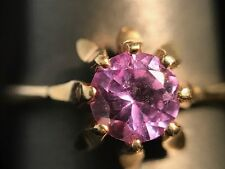 Vintage 14kt Yellow Gold and Natural .6ct Alexandrite Ring, Color Changing Stone