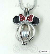 "Pearl Cage Pick A Pearl or Wish Pearl Epcot Minnie Mouse Mickey Head 18"" Chain"