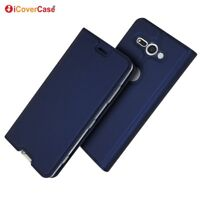 Magnetic PU Leather Flip Case Shockproof Card Cover for Sony Xperia XZ2 Compact