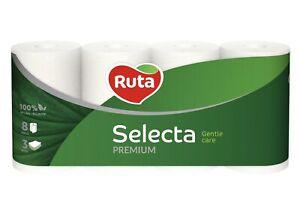 112 Rollen Selecta Toiletten Papier Klopapier WC-Papier 3 lagig weiß premium