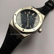 Didun Design Luxury Genuine Leather Quartz Men's Date Watch Blue Dial