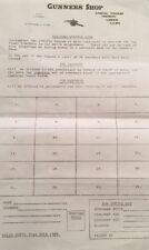 Arsenal Gunner Shop Token List 1981/2