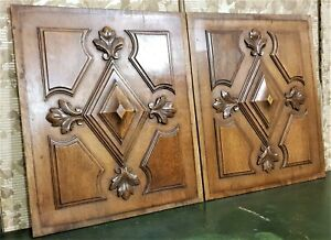 Victorian decorative wood carving panel Antique french architectural salvage