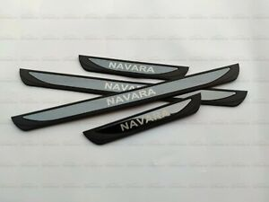 For Nissan Navara Accessories Car Door Sill Cover Scuff PlateTrim Protector 2021
