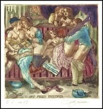 David Bekker 2007 Exlibris C4 Bookplate Erotic Erotik Nude Nudo Woman Sex 895