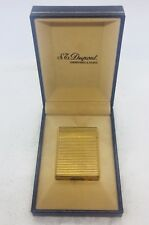St Dupont France Vintage Yellow Gold Plated Lighter & Box