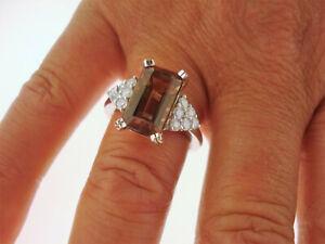 Ring 750 Gold Turmalin 6,22 CT GIA Zertifikat 12 Brillanten Anello Oro 18K 6,0 g