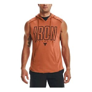 Under Armour Men Project Rock Terry Iron Training Sleeveless Hoodie 1361744-843