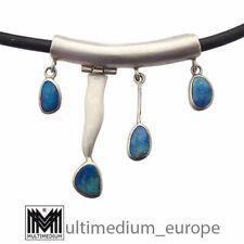 Vintage Modernist Opal Sterling Silber Anhänger 925 opal silver pendant
