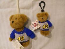 Boyd Bear Nascar Bear and Key Ring #48 Jimmy Johnson 919409