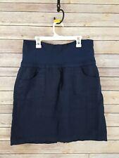 Athleta Lima Linen Fold Over Skirt Blue Pockets Lagenlook Tennis Athleisure Sz 6