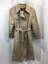 VTG NOS LONDON FOG Women 10 PET TRENCH Coat RAIN Jacket REMOVABLE WOOL LINER USA