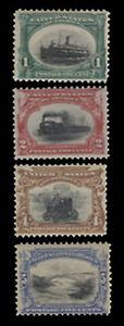 Scott US # 294-297 - 1¢-5¢ Pan Americans of 1901, F-VF & VF, NH