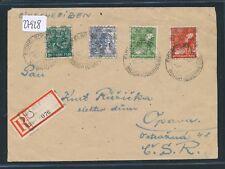 27928) Reco-Brief K2 12.7.48 + RZ mit Landpost-Ra2 Eichelsdorf über Nidda ...