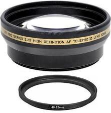 2.2x Telephoto Lens For Sony Alpha NEX-7 NEX-5 NEX-5N NEX-5R NEX-3 NEX-C3 NEX-F3